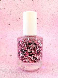 Pink Panther :  Custom-Blended Glitter Nail Polish / Lacquer