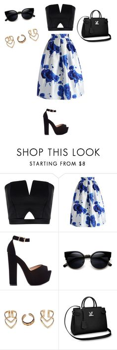 """""""Untitled #1503"""" by ioan-jeni ❤ liked on Polyvore featuring Boohoo, Chicwish and ZeroUV"""
