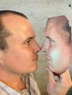 full-color 3D-Printed Face