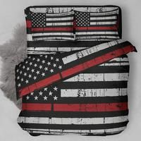 Thin Red Line Firefighter Bedding Set NEW A classic high-Quality Thin Red Line Firefighter Bedding Set NEWåÊall over print with a cracked finished Bed Cover. Firefighter Bedroom, Firefighter Home Decor, Firefighter Gifts, Firefighter Family, Firefighters Wife, Firefighter Apparel, Volunteer Firefighter, Firemen, Firefighter Boyfriend