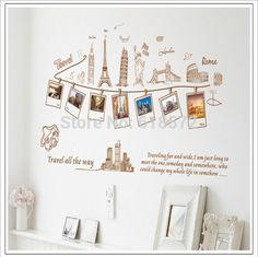 Vintage-World-travel-Photos-wallpaper-frame-DIY-2014-Removable-Wall-Stickers-kids-Decor-Home-Wall-Paper.jpg (594×592)