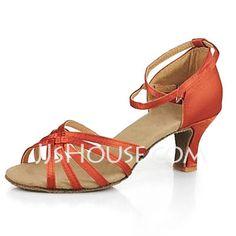 Women's Satin Sandals Latin Ballroom Dance Shoes (053013191)
