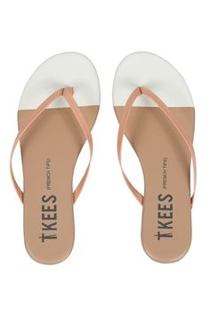 Tkees French Tip Sandal in Ivory Sand