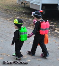 Scuba Divers - yay!  My boy is still not giving in to plastic costumes! He wants to be a Scuba Diver this year for Halloween!  Now, to convince Syd she has to be one or a shark!  ;)