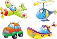 cartoon means of transport 01 vector