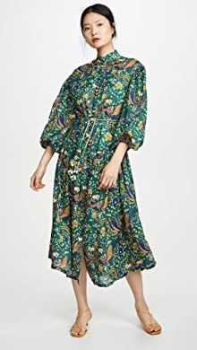 Floral Fit and Flare Dress India Fashion, China Fashion, Peacock Print, Trends, Drop Waist, Modest Dresses, Asymmetrical Dress, Casual Chic, Fit And Flare
