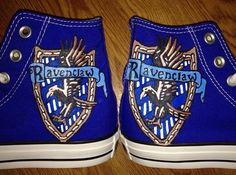 Harry Potter Emblem- Ravenclaw Hand Painted Custom Converse. I MUST HAVE THEM