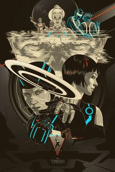 I'm so happy whoever designed this Tron poster kept Daft Punk in it. :) lol
