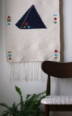 Pyramid Wallhanging— Rachel Duvall Textiles one of a four part series  hand woven, hand dyed
