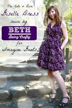 giselle dress pattern review for Selfish Sewing Week @imaginegnats