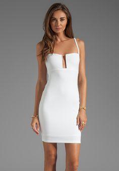 bachelorette party dress  NOOKIE Stadium II Bustier Dress in White - Nookie
