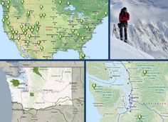 Clickable map of National Parks. Hiking Places, Park Resorts, Us Road Trip, Dipper, Rv Travel, Adventure Is Out There, Cross Country, Oh The Places You'll Go, Vacation Spots