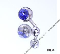 $0.28 23mm Blue Round Navel Nail Belly Button Bar Crystal Body Piercing Art #BodyJewelry #eozy