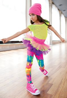 Weissman™ | Mesh Top Tutu Printed Leggings