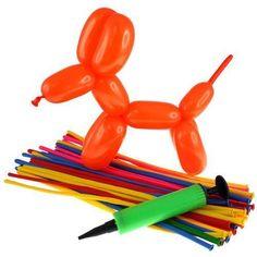 32-Balloon-Fun-Modelling-Balloons-Pump-Eye-Stickers-Kit-Kids-Balloon-Age-8