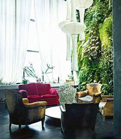Indoor garden wall.