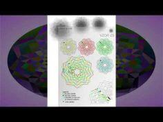 kruhové obrazy jako předlohy pro paličkovanou krajku, inspiraci, meditaci