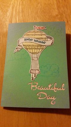 Heart and Home Papercrafters - hot air balloon card