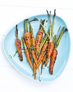 Grilled Carrots with Lime and Cilantro | a Couple Cooks