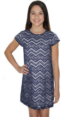 Shimmer Zig Zag Cap Sleeve Dress