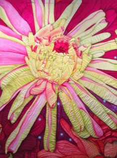 Velda Newman quilt show.  Closeup photo by Mary McGuire.