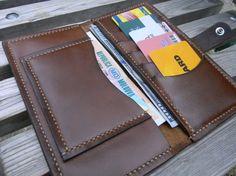 Hand Stitched Biker Wallet Leather Long Wallet от MaroquinArtisan