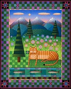 2006 sisters quilt show poster cat