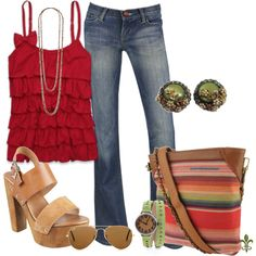 Red Ruffles - Polyvore