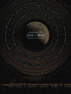 Iron & Wine show Poster
