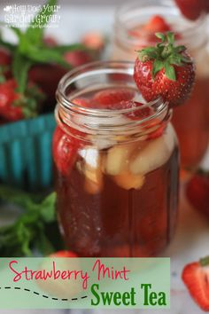 [Ad] Do you love Iced Tea as much as I do? You have to try this refreshing Strawberry Mint Sweet Tea recipe made with Bigelow @bigelowtea American Breakfast Tea. It is the perfect cool-down drink recipe for a hot summer's day. #MeAndMyTea