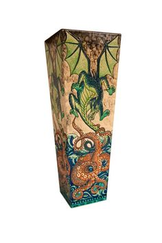 """Heidi Warr Large Limited Edition """"Dragon and Octopus"""" Tower Vase. Edition of 5  Dated: 2013  £2,320"""