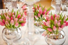 Pink Tulips ~ Spring Table Decorations