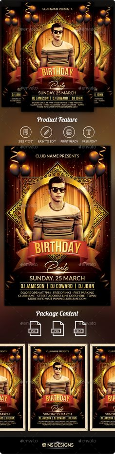 vip birthday party flyer graphicriver item for sale my flyer