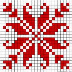 Star design perler bead pattern - turn it into granny square blanket!