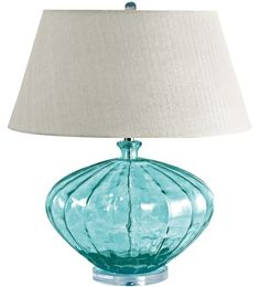 Glass Fluted Urn Lamp