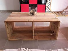 Here we come across a pallet wood repurposed table with a totally different approach and design as well. This seems not like a typical wooden table, but it provides us with a broader and larger scope of the wooden pallet ideas and recycled creations. This table is far more than a mere wooden table.