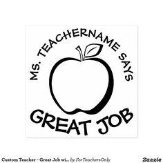 Custom Teacher - Great Job with Modern Apple Self-inking Stamp