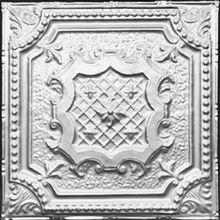 "Elizabethan Shield - Tin Ceiling Tile - 24""x24' - #2421"