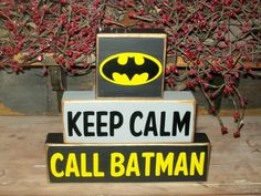 New Primitive Distressed Keep Calm Call Batman Wood Sign Blocks Boys Girls Room Nursery Decor Birthday Parties Can Be Personalized