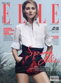 Olivia Palermo covers Elle Vietnam's April 2015 issue wearing Spring '15 Dolce & Gabbana