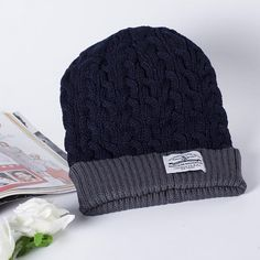 408504b2985 2016 Beanies winter Men knitted hat reversible New Women unisex baggy warm  ski skullies skull cap bonnets Gorros -in Skullies   Beanies from Men s  Clothing ...