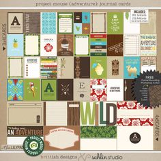 Project Mouse (Adventure): Journal Cards by Sahlin Studio and Britt-ish Designs