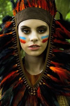 Feather Headdress - Makeup