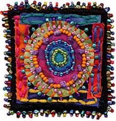 Online class with Susan Sorrell to make beaded felt pins. Beaded Embroidery, Embroidery Stitches, Hand Embroidery, Textile Jewelry, Fabric Jewelry, Jewellery, Textiles, Textile Fiber Art, Penny Rugs