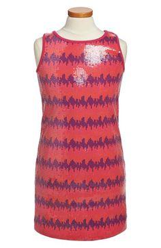 Girl's Nicole Miller Sequin Tank Dress