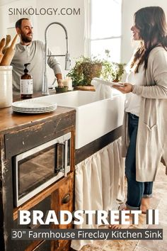The Bradstreet II is handcrafted to withstand the needs of a busy kitchen without sacrificing the elegance of a classic apron-style farmhouse sink. Fireclay Farmhouse Sink, Fireclay Sink, Farmhouse Sink Kitchen, Kitchen Sink, Farmhouse Style, Farmhouse Kitchen Inspiration, Single Bowl Sink, Rustic Design, Apron