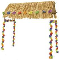 "Add a touch of paradise to your luau, pool party, birthday, anniversary, retirement, or any special occasion. Our table top Tiki Hut sits on top of a standard size table. This Hut is a substantial size at 55"" x 22"" x 56"". Includes metal frame, hut, roof thatching and decorative garlands. (Hardware and assembly instructions are included. Tableskirting and accessories are sold separately.) NOTE: Due to the size and weight we can ship ground only, not air or 3-day. We ship next business day on…"