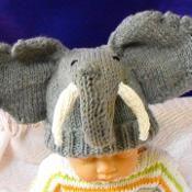 Baby Big Ears Elephant Beanie Hat - via @Craftsy
