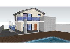 #Casas #Contemporaneo #Balcon #Exterior #Porche #Dibujos #Fachada #Barandillas #Maquetas