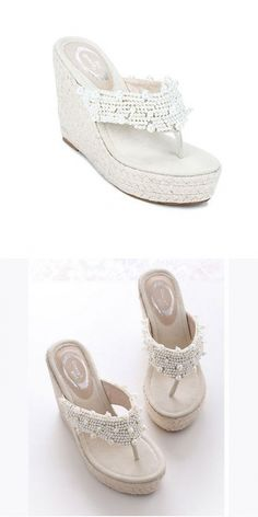 Closed Down Hallux New Sandals Most Women Bare Special Occasion Slippers Floral… Navy Wedding Shoes, Beach Bridesmaid Dresses, Trendy Sandals, Wedding Mint Green, One Sleeve Dress, Lace Wedding Invitations, Jelly Sandals, Plus Size Lingerie, Black Leather Handbags